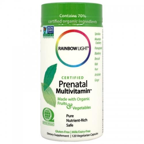상품 상세보기 종합비타민 Rainbow Light 레인보우 라이트 유기농 천연 임산부용 종합